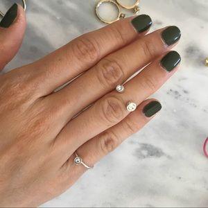 Jewelry - Dainty petite Midi and pinky ring set